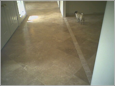 24 in. X 24 in. Travertine Diagonal