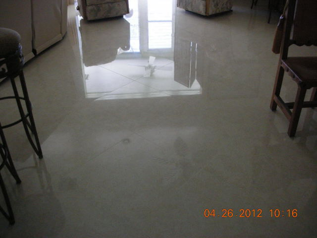 24 in. X 24 in. Polished Porcelain 1/16 in. Grout Lines
